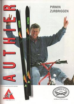 Publicité 1990 P. Zurbriggen