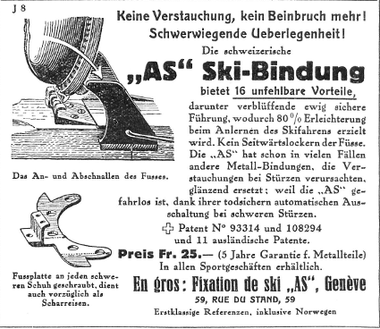 Advert 1926 Albert Schiess