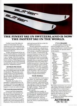 "Publicité 1975 ""SKIING"" Magazine"