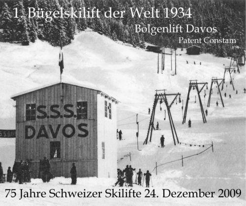 Erste Skilifte Davos 1934