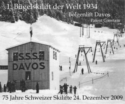 Premier téléski Davos 1934