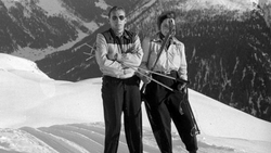 His & Hers ski lift Davos 1951