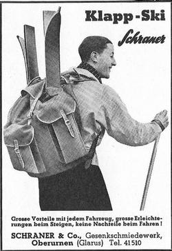 Skis pliables SCHRANER 1937