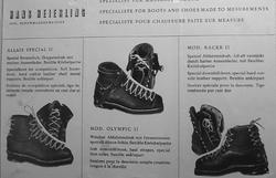 1948 Doppelt Geschnürte Skischuhe