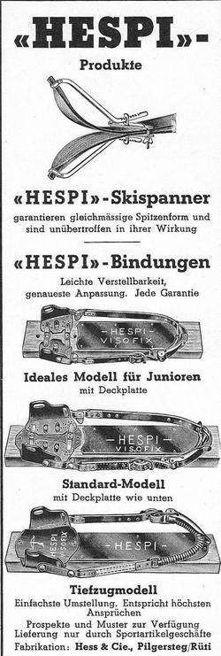 Publicité Hespi 1937