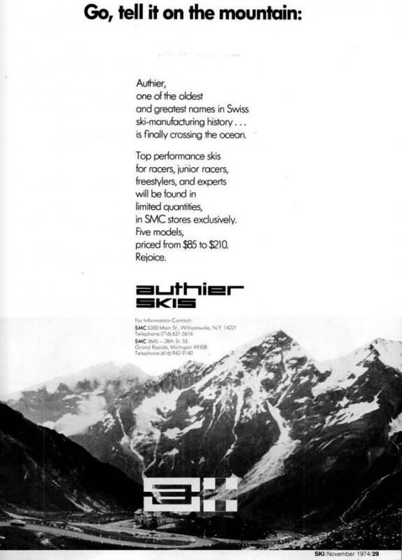 1974 Advert SKI Magazine