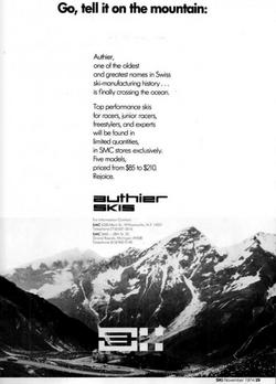 """Publicité 1974 """"SKI"""" Magazine"""