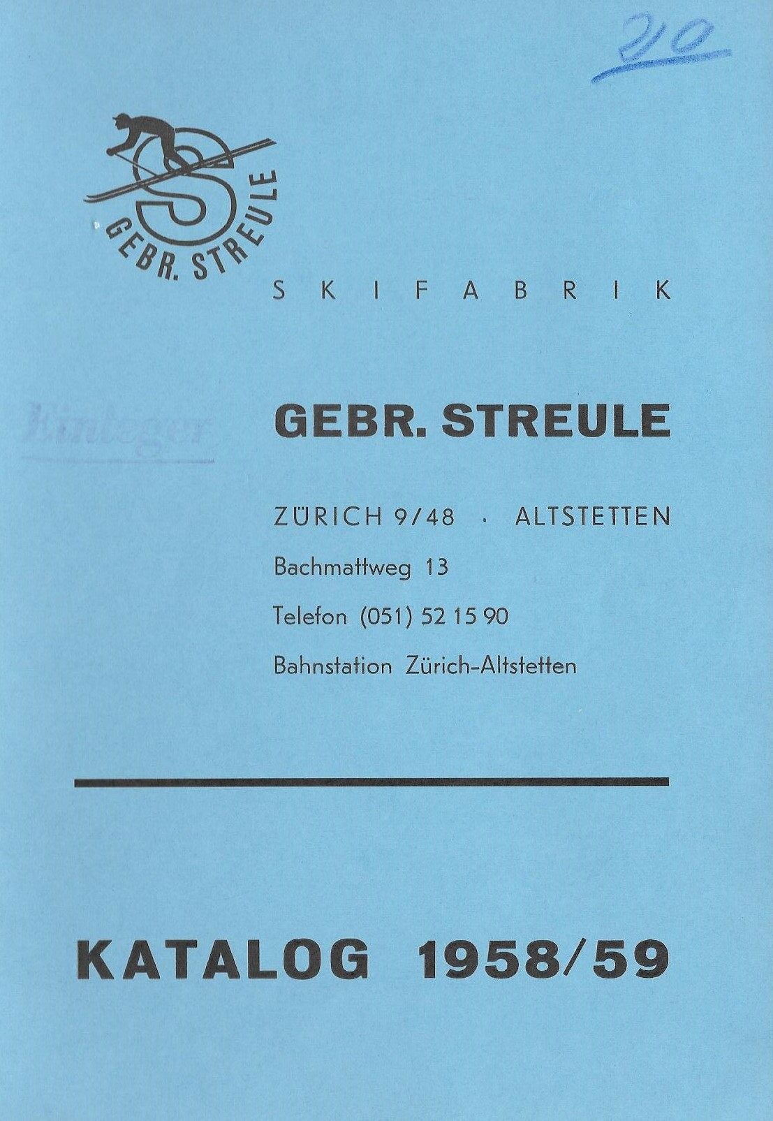 Catalogue 1958/59
