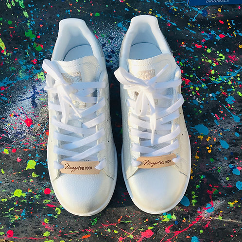 Adidas Stan smith personnalisées Custom argentée