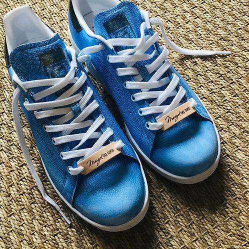 Adidas Stan smith personnalisées Custom Ciel