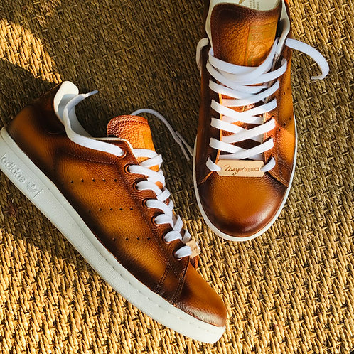 Adidas stan smith personnalisées Custom Marron