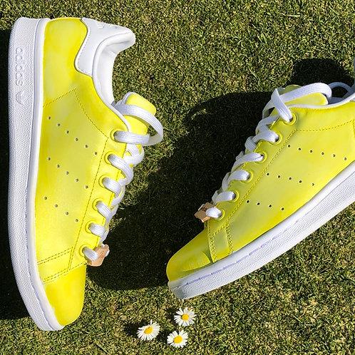 Adidas Stan Smith personnalisées Custom Yellow Stan