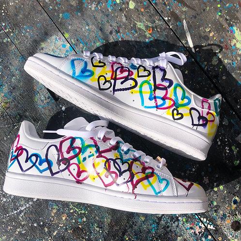 Adidas Stan Smith personnalisées Custom P'tit Coeur