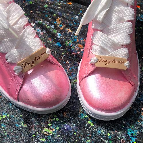 Adidas Stan Smith personnalisées Custom Bubble gum