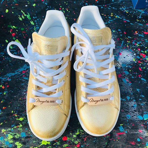 Adidas Stan smith personnalisées Custom Patine OR