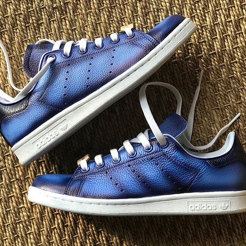 Adidas Stan Smith personnalisées Custom Bleue