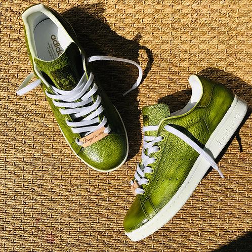 Adidas Stan Smith personnalisées Custom KAKI