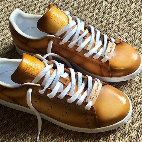 Adidas Stan smith personnalisées Custom Patine bois clair