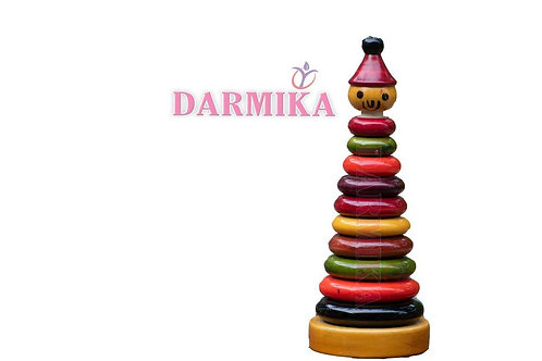 Darmika Wooden Rainbow Stacking Rings (Multicolour)