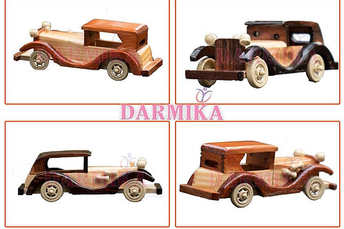 Darmika Wooden Vintage Classic Vehicle Car Toy each
