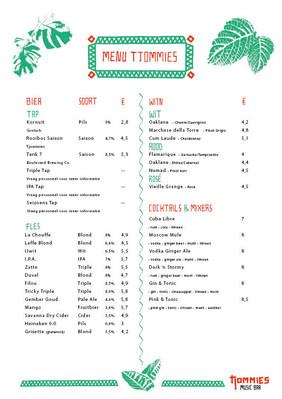 Menu | Beer | Wine | Mixers & Cocktails