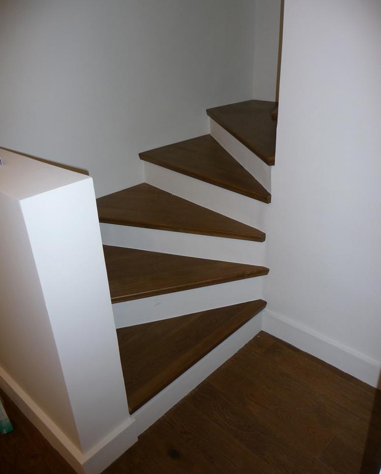Marches d'escalier réalisées par la Menuiserie des Rossignols