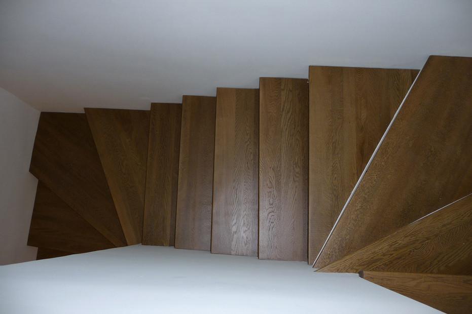 Marches d'escaliers réalisées par la Menuiserie des Rossignols