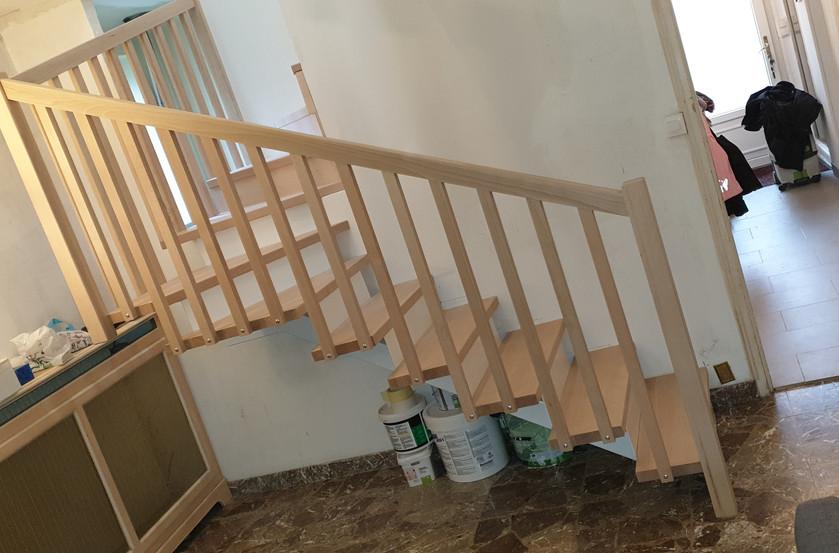 Escaliers réalisés par la Menuiserie des Rossignols