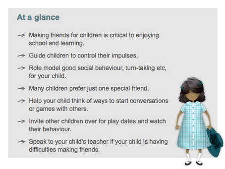 Is your child making friends at school?