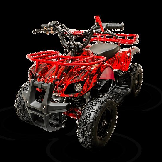 Sonora 40CC 4-Stroke Gas ATV Four Wheeler Quad for Kids (No CA Sales), Red Flame