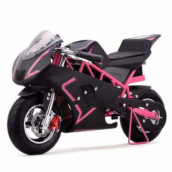 36V 500W Electric Pocket Bike Mini Motorcycle for Kids (Pink/Black)