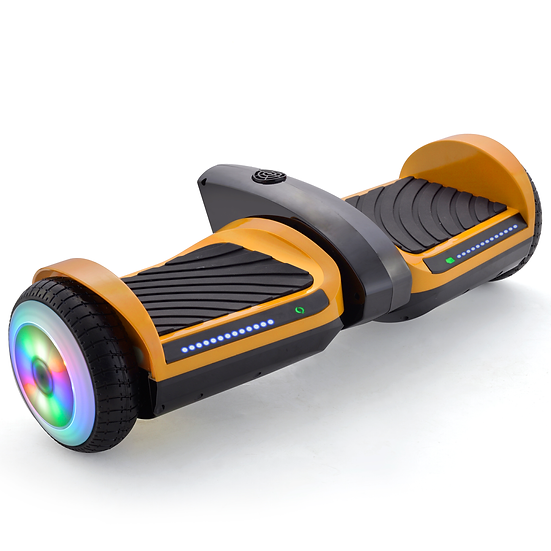 6.5'' Hoverboard with Mist Spray, Sound, and Built-in Bluetooth (Yellow)