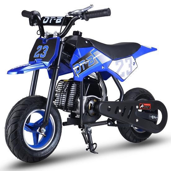 2-Stroke 51CC Gas Dirt Bike Mini Motorcycle (EPA Registered, NO CA Sales), Blue
