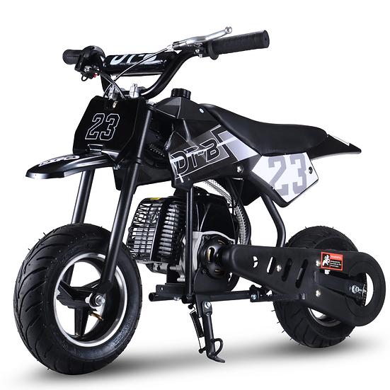 2-Stroke 51CC Gas Dirt Bike Mini Motorcycle (EPA Registered, NO CA Sales), Black