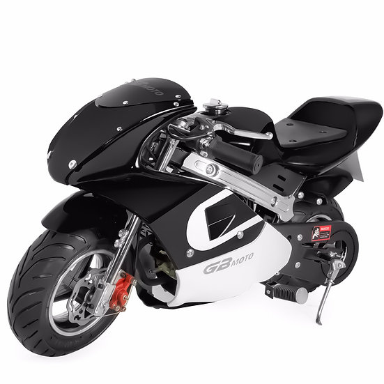 40CC Gas Pocket Bike Mini Motorcycle for Kids (Black), EPA Registered