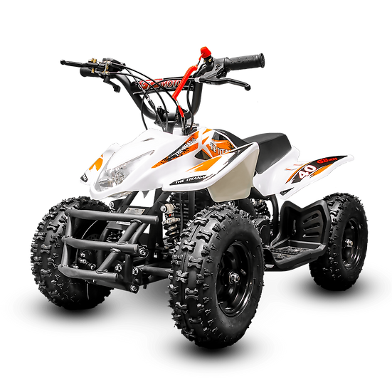 Titan 40CC 4-Stroke Gas ATV Four Wheeler Quad for Kids (No CA Sales), White