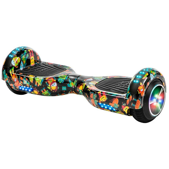 6.5'' Hoverboard with LED Lights and Bluetooth for Kids (Robot Pattern)