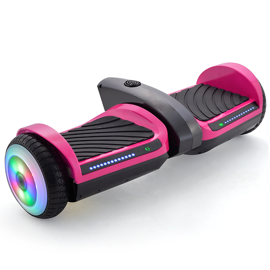 6.5'' Hoverboard with Mist Spray, Sound, and Built-in Bluetooth (Pink)