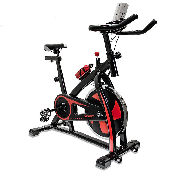V-Fire Indoor Cycling Workout Bike for Cardio and Fitness (Red)