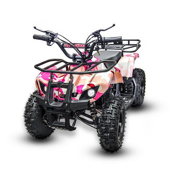 350W 24V Sonora Electric ATV Mini Quad Four Wheeler for Kids (Pink Camo)