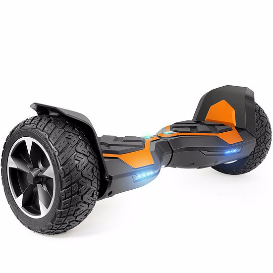 8.5'' Ninja Hoverboard with Built-in Bluetooth for Kids and Adults (Orange)