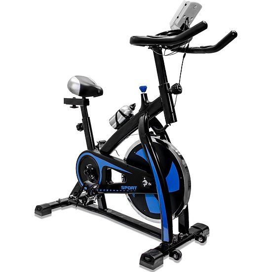 V-Fire Indoor Cycling Workout Bike for Cardio and Fitness (Blue)