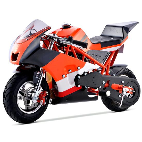 40CC Gas Pocket Bike Mini Motorcycle for Kids (Orange), EPA Registered