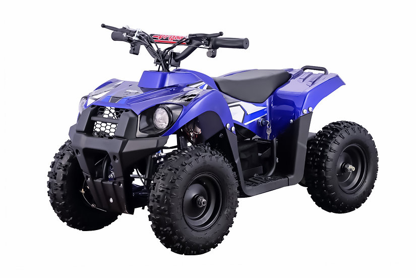 500W 36V Monster Electric ATV Mini Quad Four Wheeler for Kids (Blue)