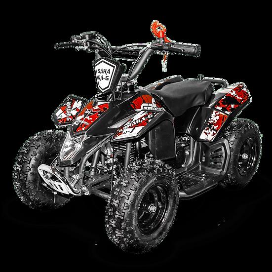 SaharaX 40CC 4-Stroke Gas ATV Four Wheeler Quad for Kids (No CA Sales), Red