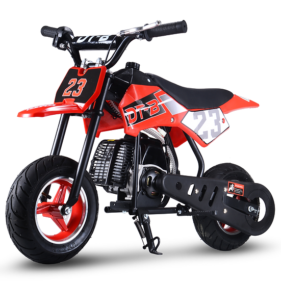 2-Stroke 51CC Gas Dirt Bike Mini Motorcycle (EPA Registered, NO CA Sales), Red