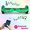 Thumbnail: 6.5'' Hoverboard with LED Lights and Bluetooth for Kids (Chrome Green)