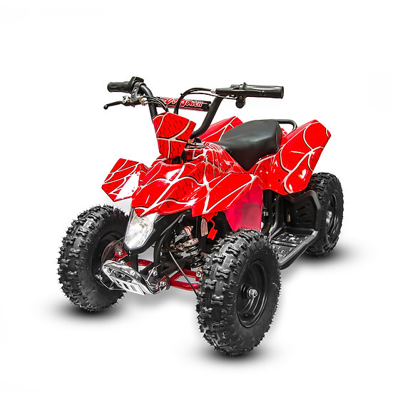 350W 24V SaharaX Electric ATV Mini Quad Four Wheeler for Kids (Red Spider)
