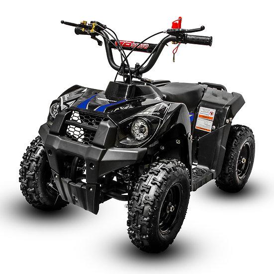 Monster 40CC 4-Stroke Gas ATV Four Wheeler Quad for Kids (No CA Sales), Blue