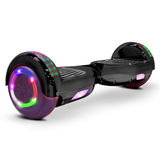 6.5'' Hoverboard with LED Lights and Bluetooth for Kids (Chrome Black)